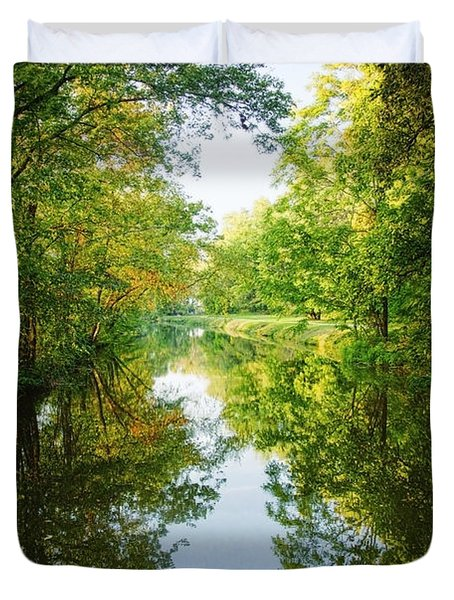 D And R Canal  Duvet Cover