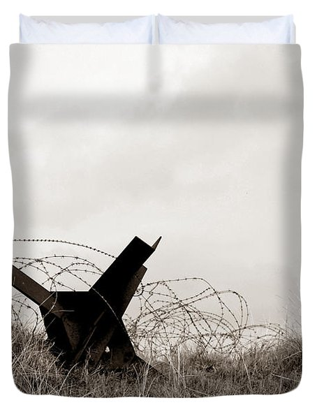 D Day Beach Duvet Cover