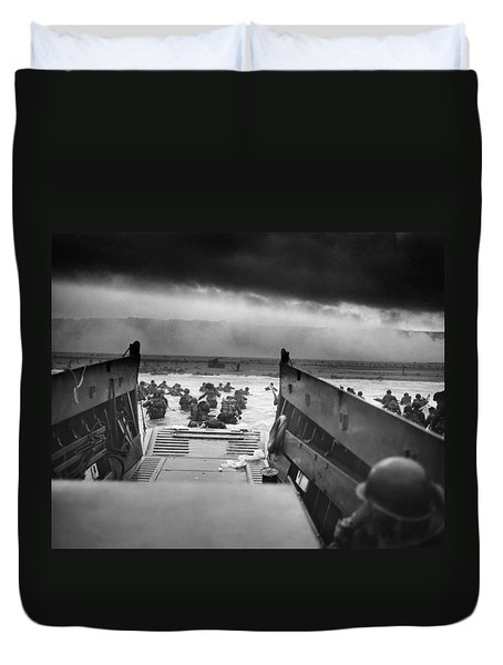 D-day Landing Duvet Cover by War Is Hell Store