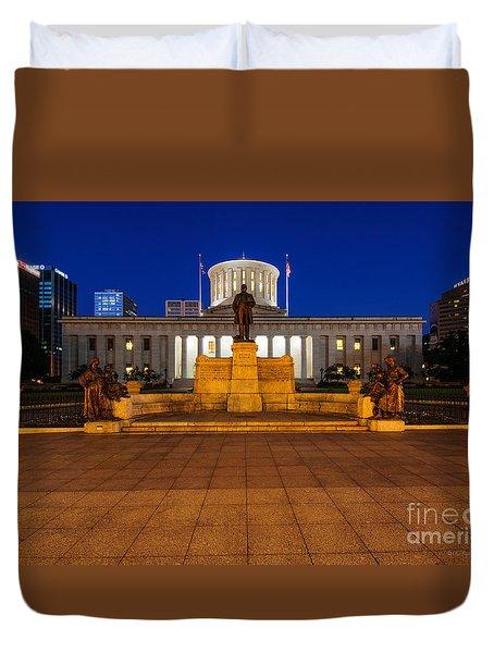 D13l112 Ohio Statehouse Photo Duvet Cover