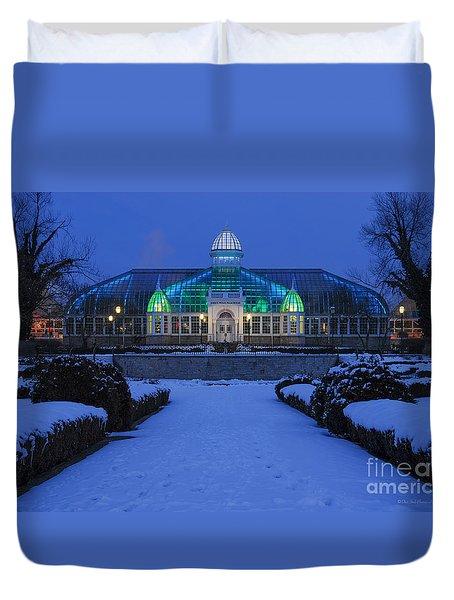 D5l-280 Franklin Park Conservatory Duvet Cover