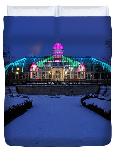 D5l287 Franklin Park Conservatory Photo Duvet Cover