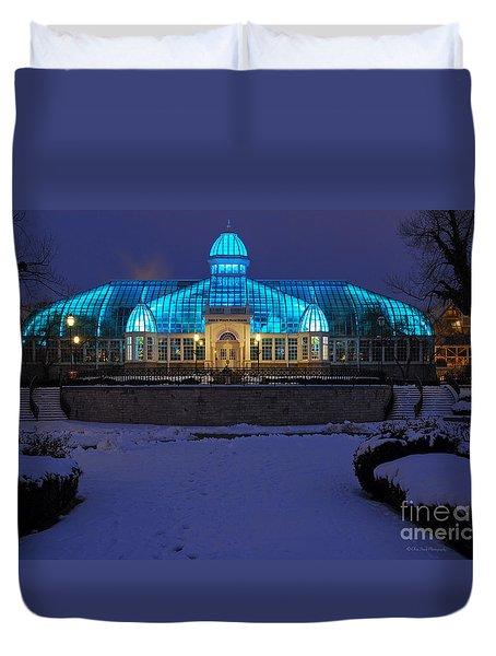 D5l-291 Franklin Park Conservatory Photo Duvet Cover