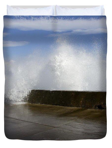 Da Wave Duvet Cover by Sharon Mau