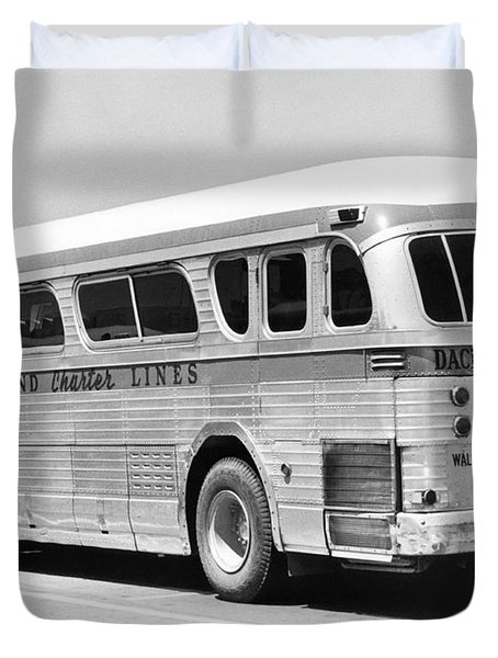 Dachshound Charter Bus Line Duvet Cover