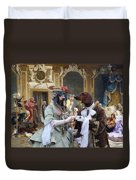 Dachshund Art - Royal Party Duvet Cover