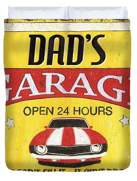 Dad's Garage Duvet Cover