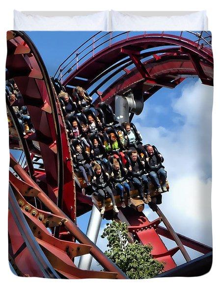 Daemonen - The Demon Rollercoaster - Tivoli Gardens - Copenhagen Duvet Cover