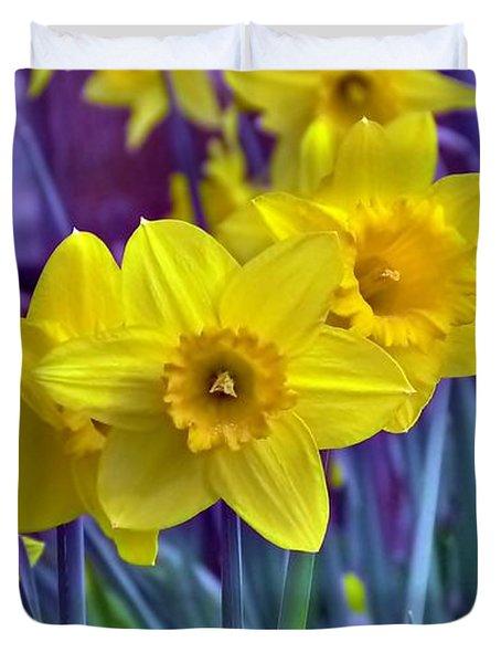 Daffodil Dance Duvet Cover