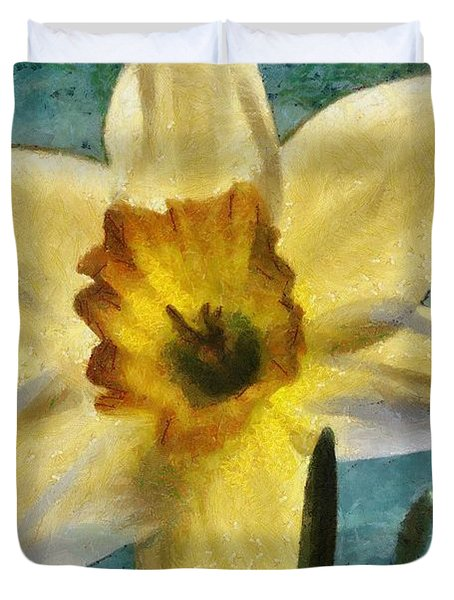 Daffodil Duvet Cover by Jeff Kolker