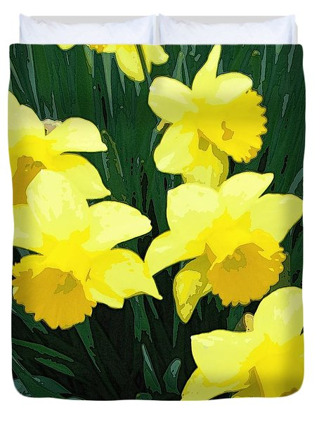 Daffodil Song Duvet Cover