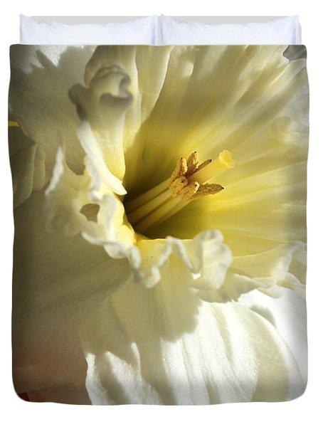 Daffodil Still Life Duvet Cover