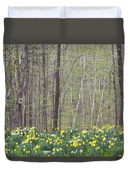 Daffodil Woods Duvet Cover by Alan L Graham