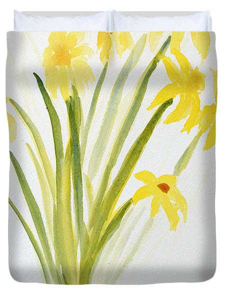 Daffodils For Mothers Day Duvet Cover by Wade Binford