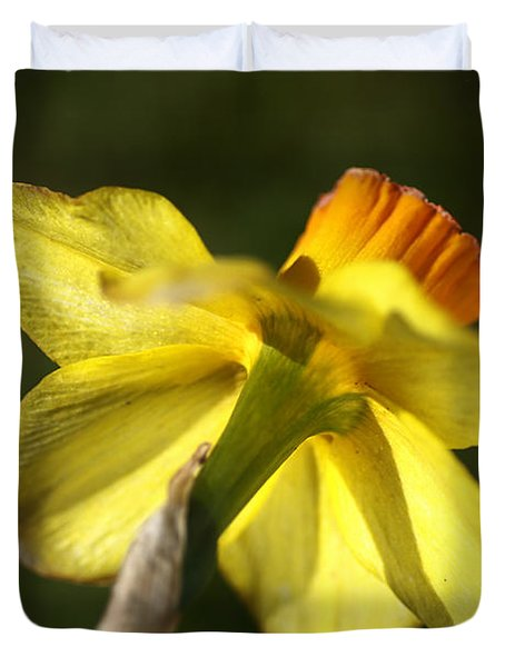 Duvet Cover featuring the photograph Daffodils Grace by Joy Watson