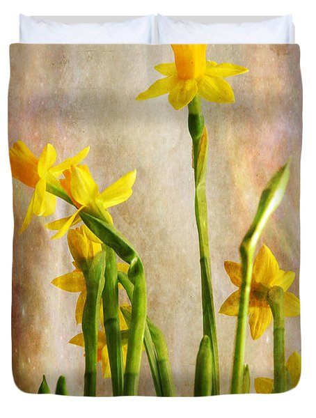 Daffodils Duvet Cover by Randi Grace Nilsberg