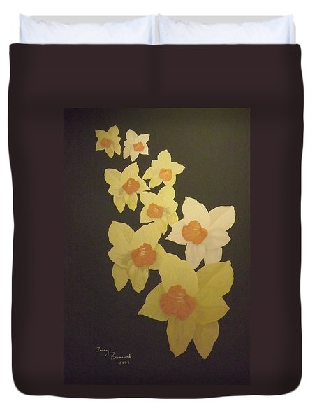 Daffodils Duvet Cover by Terry Frederick