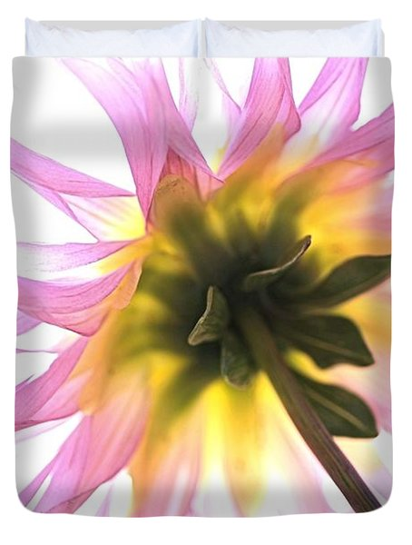 Dahlia Flower Duvet Cover by Joy Watson
