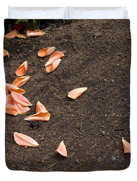 Dahlia Petals Duvet Cover