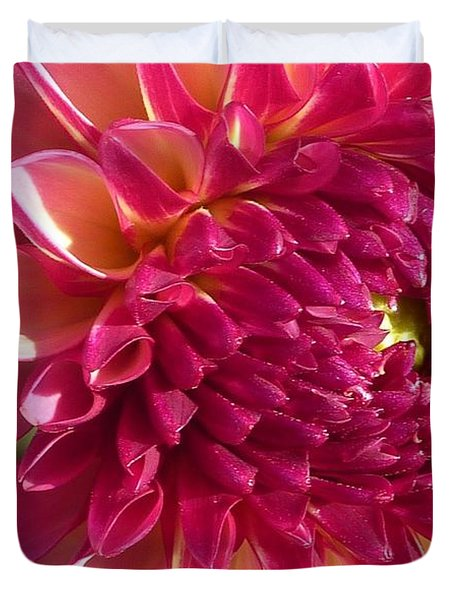 Duvet Cover featuring the photograph Dahlia Pink 1 by Susan Garren
