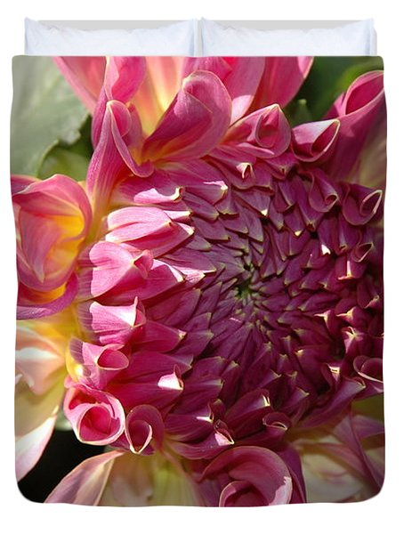 Duvet Cover featuring the photograph Dahlia V by Christiane Hellner-OBrien