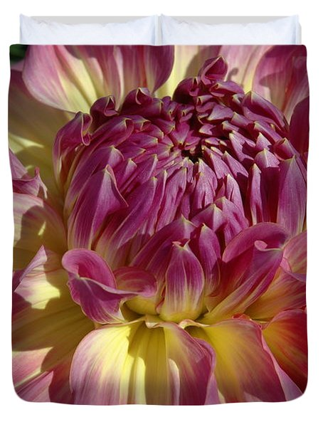Duvet Cover featuring the photograph Dahlia Vii by Christiane Hellner-OBrien
