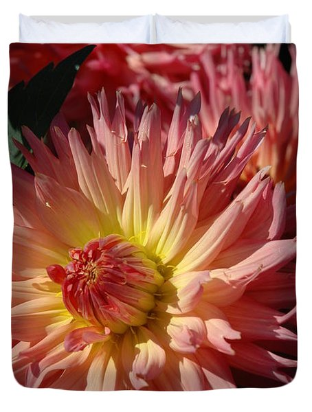 Duvet Cover featuring the photograph Dahlia Viii by Christiane Hellner-OBrien