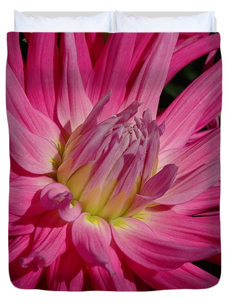 Duvet Cover featuring the photograph Dahlia X by Christiane Hellner-OBrien