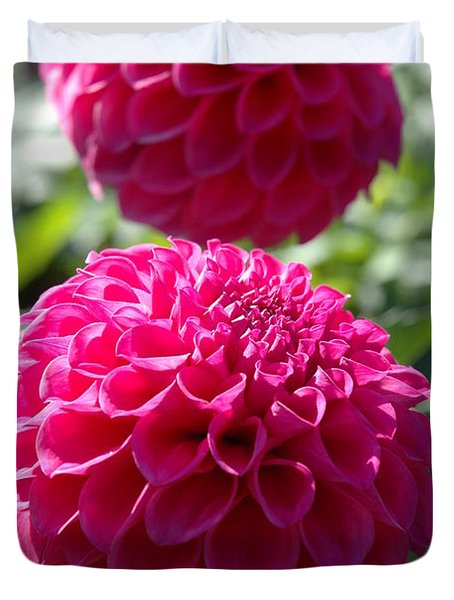 Duvet Cover featuring the photograph Dahlia Xi by Christiane Hellner-OBrien