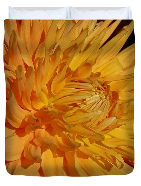 Duvet Cover featuring the photograph Dahlia Xiii by Christiane Hellner-OBrien