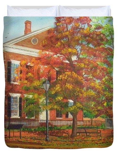 Dahlonega's Gold Museum In Autumn Duvet Cover