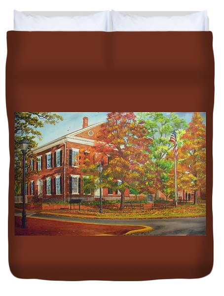 Dahlonega's Gold Museum In Autumn Duvet Cover