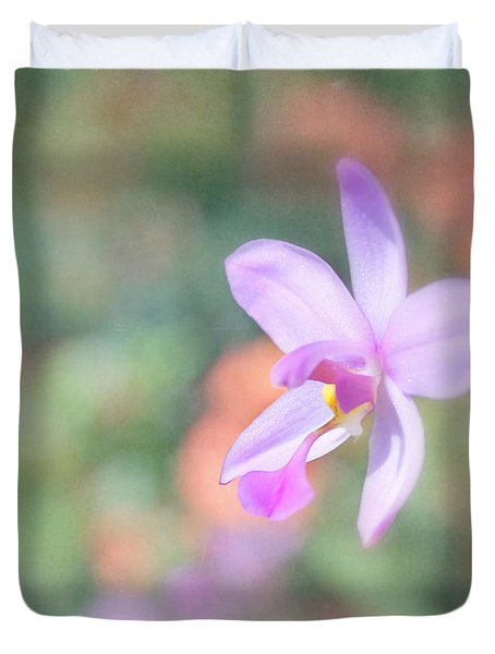 Dainty Orchid Duvet Cover by Kim Hojnacki