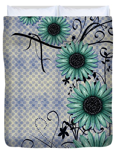 Daisies Design - S01-29c Duvet Cover by Variance Collections