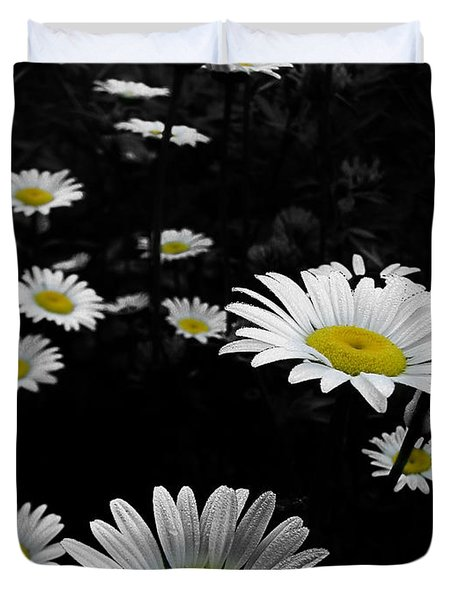 Daisies Duvet Cover by GJ Blackman