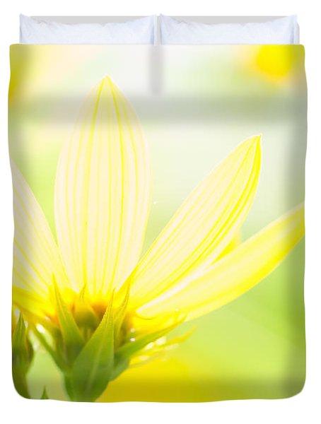 Daisies In The Sun Duvet Cover