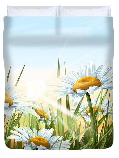 Daisies Duvet Cover by Veronica Minozzi
