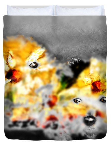 Daisy Animal Duvet Cover by Marcello Cicchini