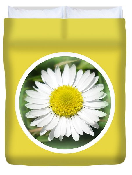 Daisy Closeup Duvet Cover by The Creative Minds Art and Photography