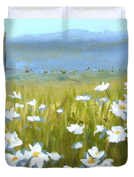 Daisy Dance Duvet Cover by Karen Ilari
