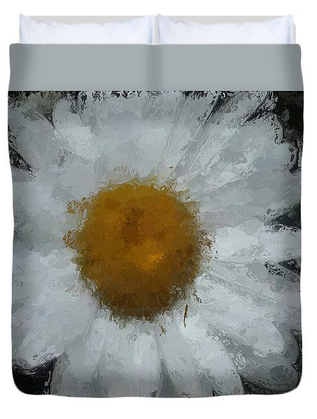 Duvet Cover featuring the digital art Daisy Delight by Anthony Fishburne
