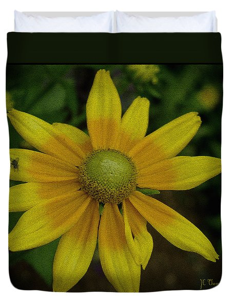 Duvet Cover featuring the photograph Daisy  by James C Thomas