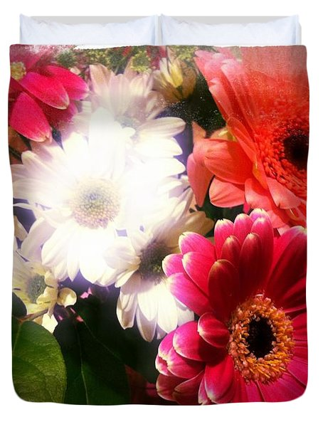 Duvet Cover featuring the photograph Daisy January by Meghan at FireBonnet Art