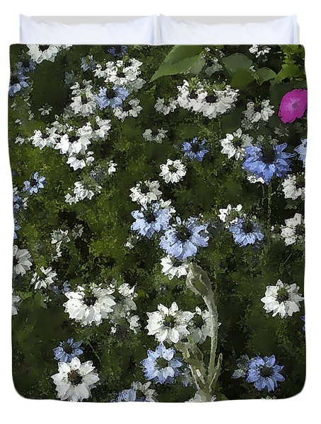 Daisy Pastel Duvet Cover by Rich Collins