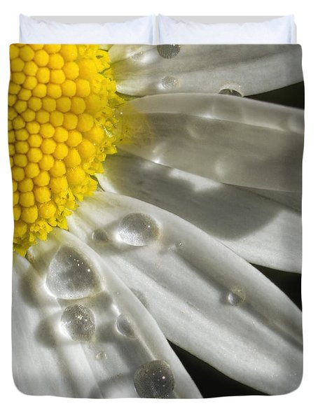 Daisy With Raindrops Duvet Cover