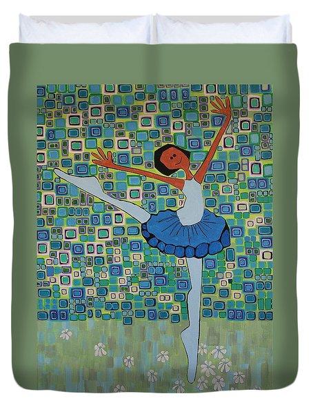 Daizies' Ballet Duvet Cover