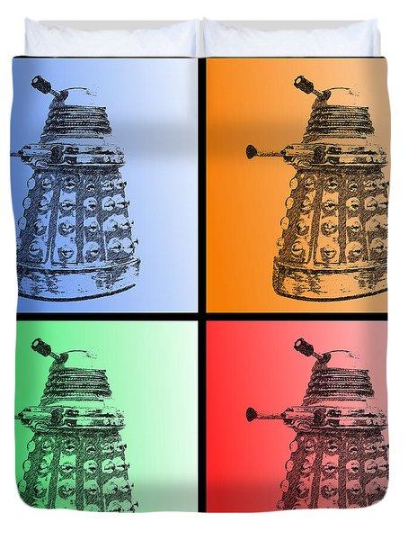 Dalek Pop Art Duvet Cover