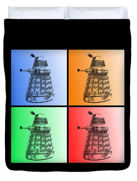 Dalek Pop Art Duvet Cover by Richard Reeve