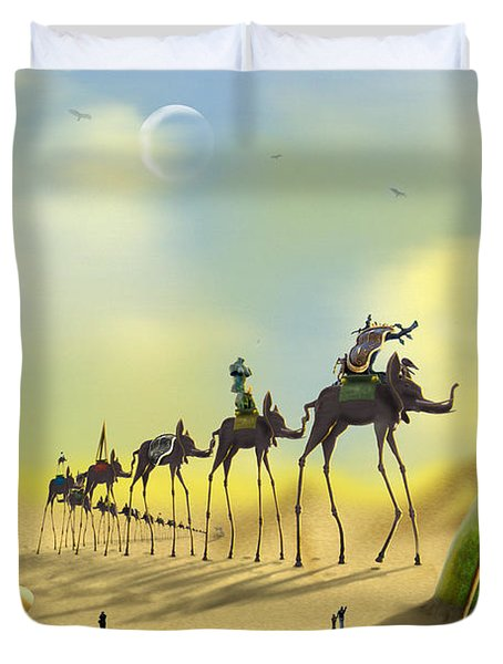 Duvet Cover featuring the photograph Dali On The Move  by Mike McGlothlen