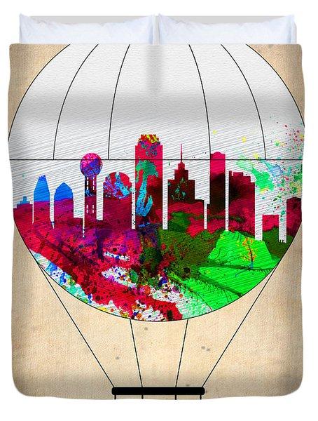 Dallas Air Balloon Duvet Cover by Naxart Studio